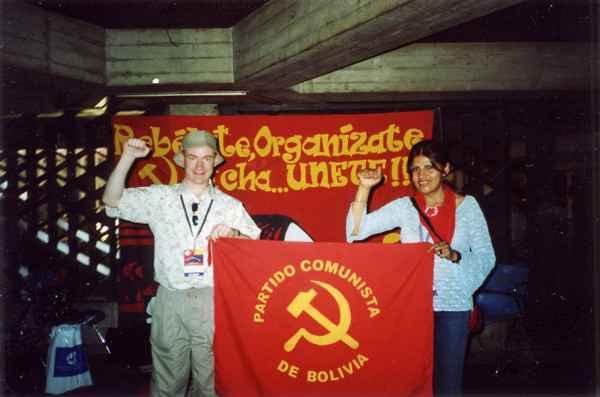 С активисткой Компартии Боливии