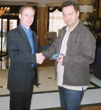 Лидер КП Сергей Малинкович и Председатель Соцпартии Сербии Ивица Дачич