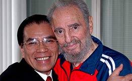 Лидеры коммунистов Вьетнама и Кубы. Фото 3 июня 2007г.