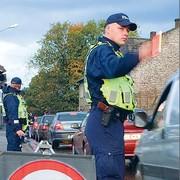 Трасса на ЭССР блокируется полицией