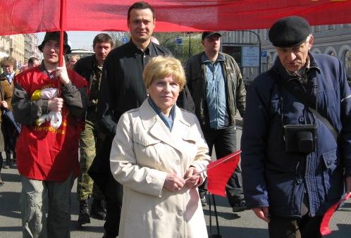 Лидеры КП с ветеранами Коммунистов Петербурга