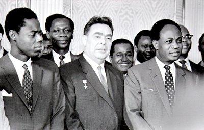 Л.И.Брежнев и президент Ганы Кваме Нкрума