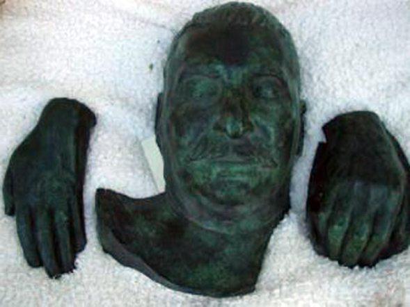 Посмертная маска И.В.Сталина, похищенная английским империализмом