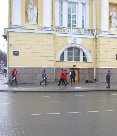Активисты появились неожиданно для полиции