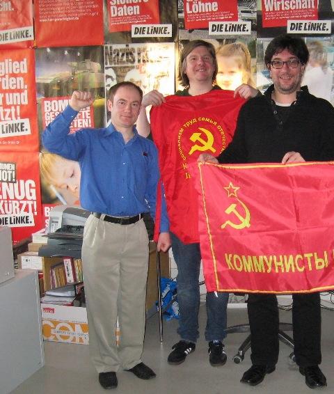C немецкими товарищами в офисе Левой партии в Дрездене