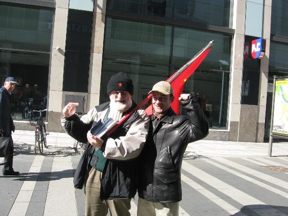 Пикет радикальных коммунистов Германии на улицах Дрездена