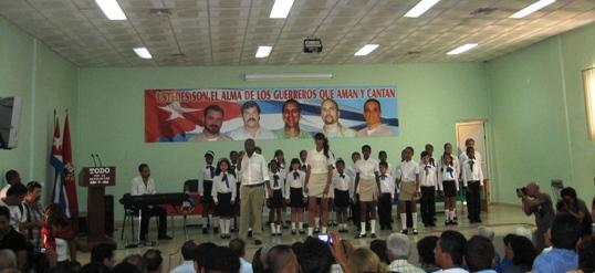 Открытие конгресса солидарности с Пятью героями
