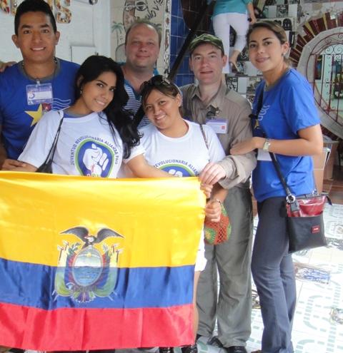 С делегацией революционного Эквадора