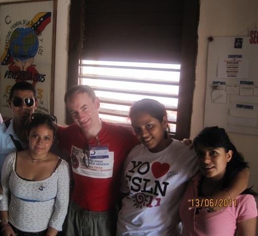 С делегацией сандинистской Никарагуа