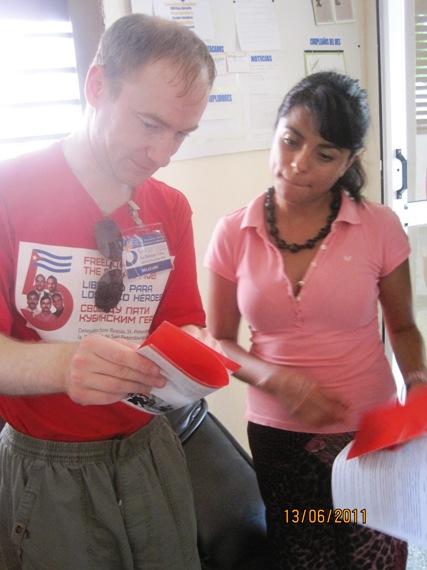 Большой интерес проявили товарищи из Никарагуа к материалам КП