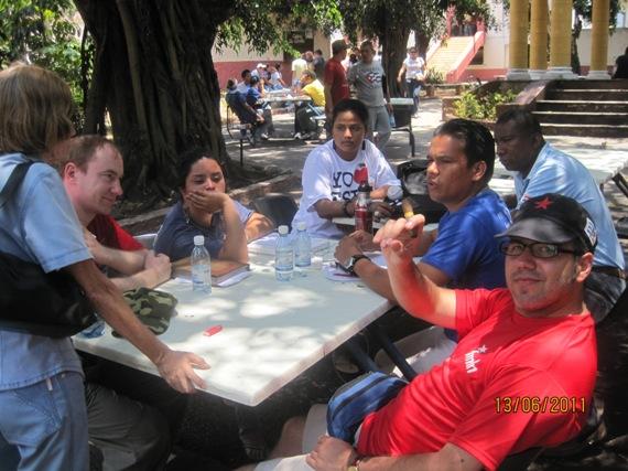 Совещание с делегациями Центральной Америки и Карибов