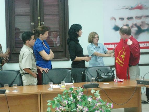 С товарищами из ЦК Союза Молодых Коммунистов Кубы