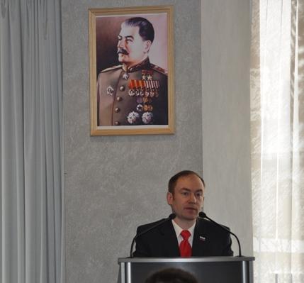 Выступает Секретарь ЦК КР тов.Малинкович