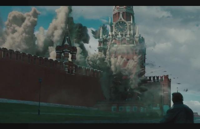 В воспаленных мозгах Круза и Машкова взрывают Кремль. Кадр из гнусного фильма