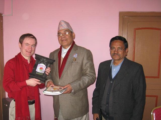С вице-председателем КПН(ОМЛ) крестьянским лидером Б.Гаутамом