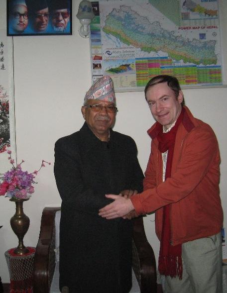 С экс-премьером Непала от КПН(ОМЛ) Мадхав Кумар Непалом