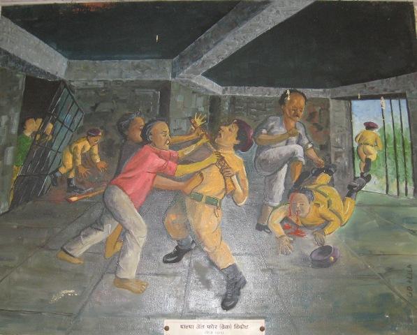 Народные художники Непала запечатлели картины революционной борьбы