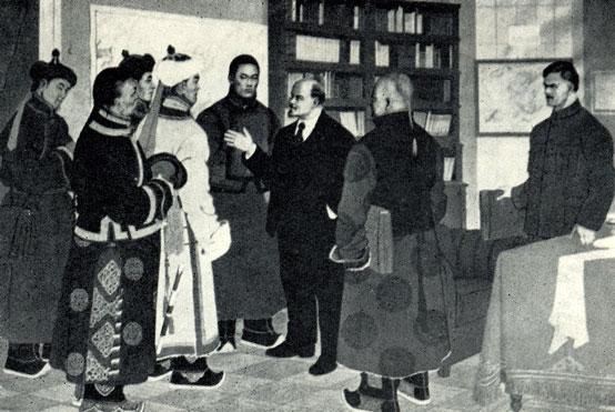 Встреча В.И.Ленина с делегацией Монголии.У кого поднялась рука на учителя и друга монгольского народа?