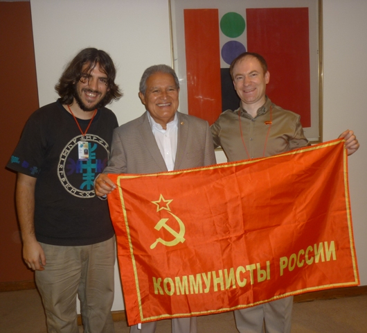 С вице-президентом Сальвадора С.Санчесом Сереном