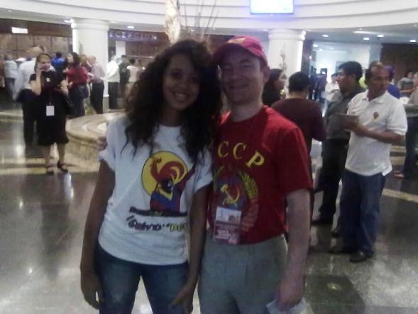 С делегатом от Комсомола Венесуэлы