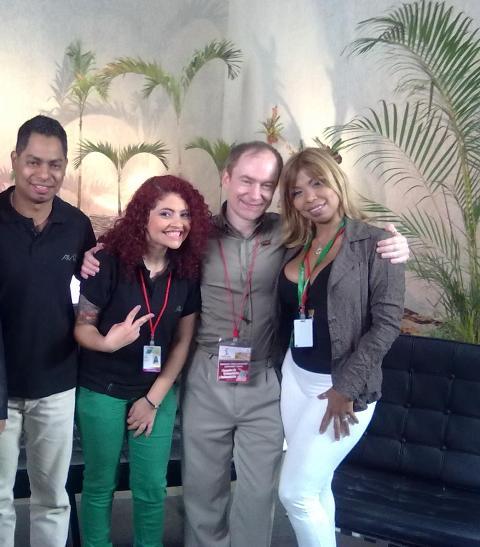 С тележурналистами Венесуэлы