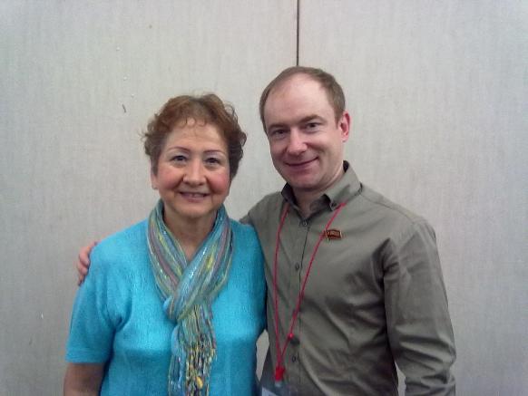 С вдовой исторического лидера КПВ Хесуса Фариа